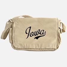 Iowa Script Font Messenger Bag