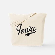 Iowa Script Font Tote Bag