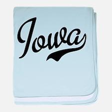 Iowa Script Font baby blanket