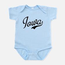 Iowa Script Font Infant Bodysuit