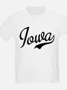Iowa Script Font T-Shirt