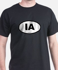 Iowa IA Euro Oval T-Shirt