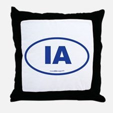 Iowa IA Euro Oval Throw Pillow