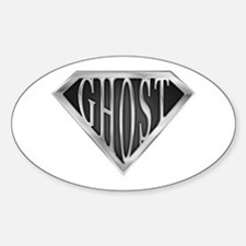 SuperGhost(metal) Oval Decal