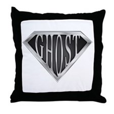SuperGhost(metal) Throw Pillow