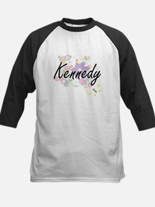 Kennedy surname artistic design wi Baseball Jersey