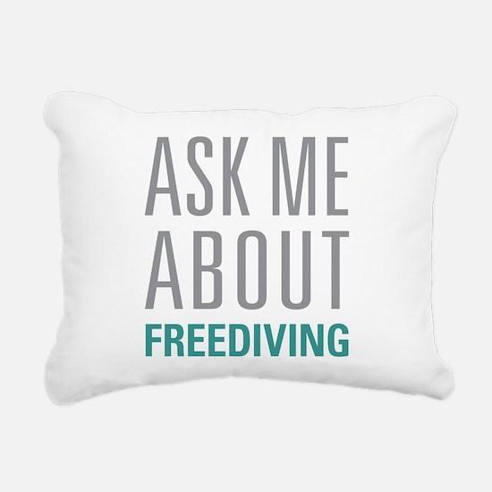 Freediving Rectangular Canvas Pillow