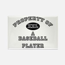 Property of a Baseball Player Rectangle Magnet