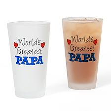 World's Greatest Papa Drinkware Drinking Glass