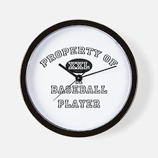 Property of a Baseball Player Wall Clock