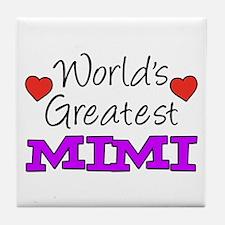 World's Greatest Mimi Drinkware Tile Coaster