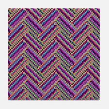 Chevron Knit - Tile Coaster