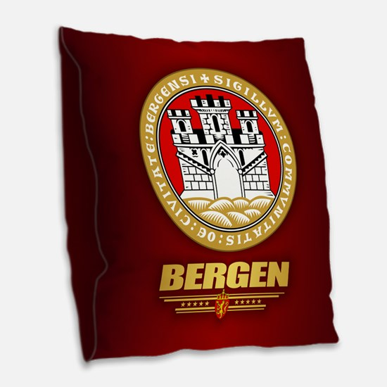 Bergen Burlap Throw Pillow