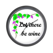 Let there be Wine Wall Clock