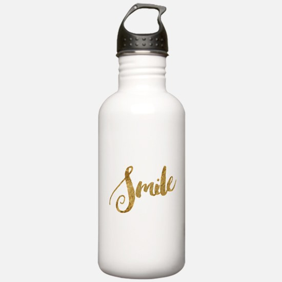 Golden Smile Faux Gold Water Bottle