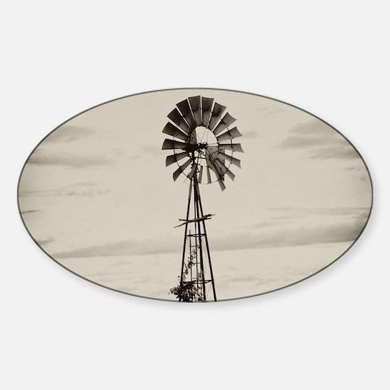 Iowa Farm Windmill Sticker (Oval)