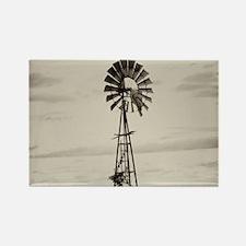 Iowa Farm Windmill Rectangle Magnet
