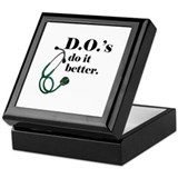 Doctor of osteopathic medicine Square Keepsake Boxes