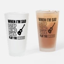ukulele design Drinking Glass