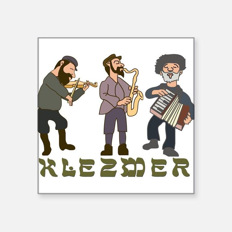 "Cute Judaism Square Sticker 3"" x 3"""