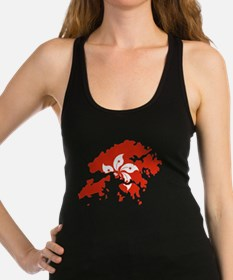 Unique China map Racerback Tank Top