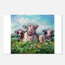 Cute Happy cow Postcards (Package of 8)