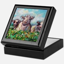 Cute Happy cow Keepsake Box