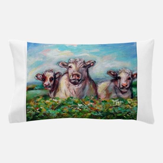 Unique Happy cow Pillow Case