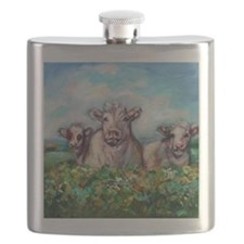 Funny Cow print Flask