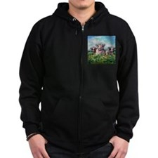 Cute Happy cow Zip Hoodie