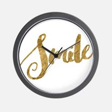 Golden Smile Faux Gold Wall Clock