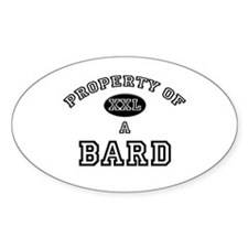 Property of a Bard Oval Decal