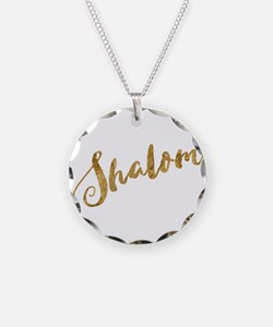 Golden Look Shalom Necklace