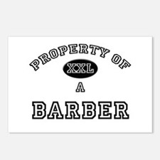 Property of a Barber Postcards (Package of 8)