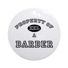 Property of a Barber Ornament (Round)