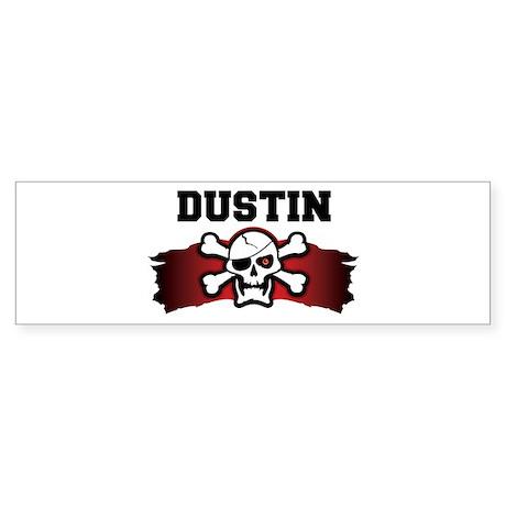 dustin is a pirate Bumper Sticker