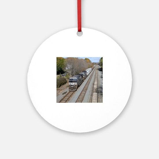 Cute Railroad Round Ornament