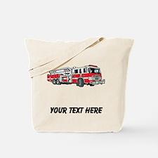 Fire Truck (Custom) Tote Bag