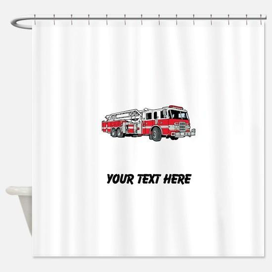 Fire Truck (Custom) Shower Curtain