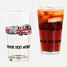 Fire Truck (Custom) Drinking Glass