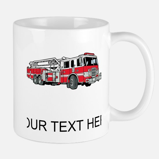 Fire Truck (Custom) Mugs