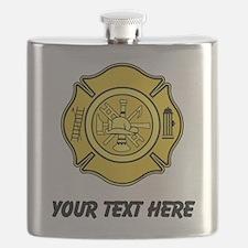 Firefighter Badge (Custom) Flask