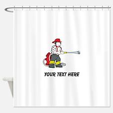 Fire Dog (Custom) Shower Curtain