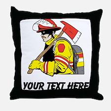 Firefighter (Custom) Throw Pillow