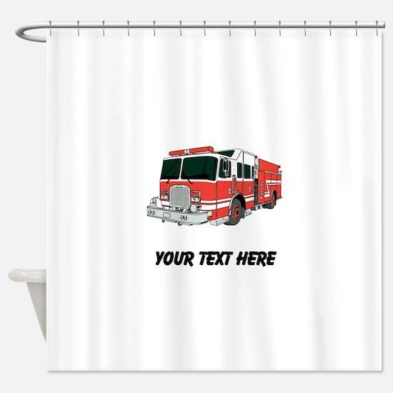 Firetruck (Custom) Shower Curtain