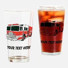 Firetruck (Custom) Drinking Glass