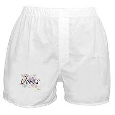 Jones surname artistic design with Fl Boxer Shorts