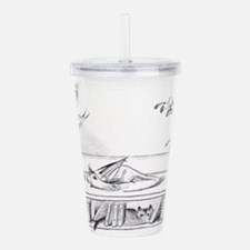 Library Dragon Acrylic Double-wall Tumbler