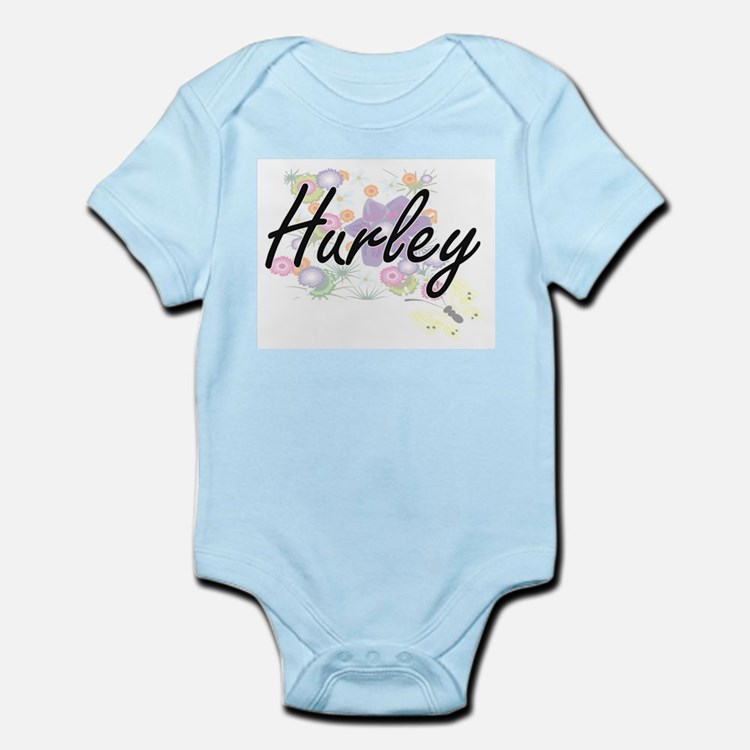 Hurley surname artistic design with Flow Body Suit