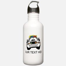 Cartoon Police Car (Custom) Water Bottle